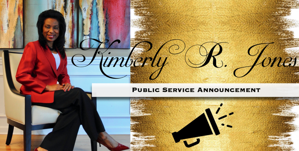Kimberly R. Jones Public Service Announcement mail-in and absentee ballot packets