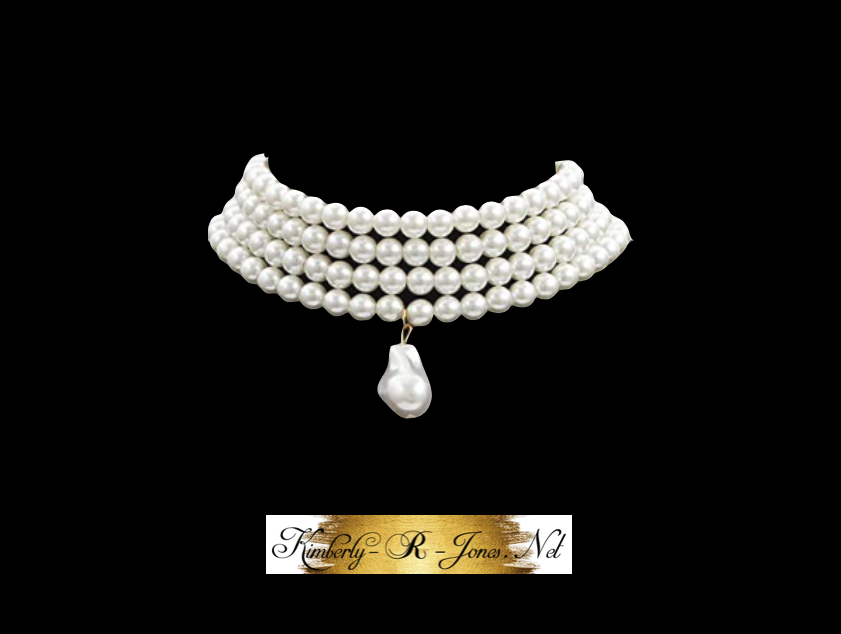 Kimberly R Jones favorite costume jewelry Pearl choker necklace with pendant